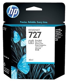 Original HP 727 Photo Black Ink Cartridge (B3P17A)