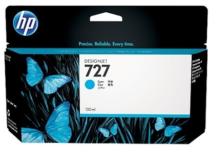 Original HP 727 High Capacity Cyan Ink Cartridge (B3P19A)