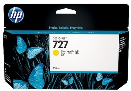 Original HP 727 High Capacity Yellow Ink Cartridge (B3P21A)