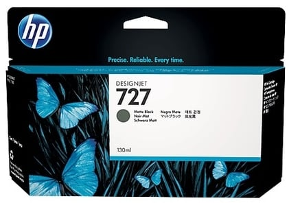 Original HP 727 High Capacity Matt Black Ink Cartridge (B3P22A)
