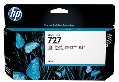 Original HP 727 High Capacity Photo Black Ink Cartridge (B3P23A)