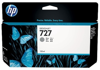 Original HP 727 High Capacity Grey Ink Cartridge (B3P24A)