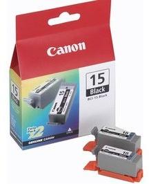 Canon Original BCI-15BK Black Ink Cartridges (Pack Of 2)