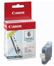 Canon Original BCI-6PC Photo Cyan Ink Cartridge