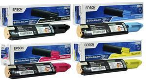 Epson Original S0501 High Capacity Toner Cartridge Multipack (Black/Cyan/Magenta/Yellow)