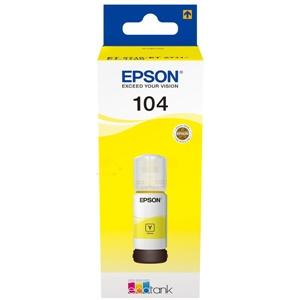 Original Epson 104 Yellow Ecotank Ink Bottle (C13T00P440)