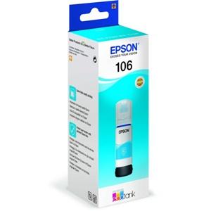 Original Epson 106 Cyan Ecotank Ink Bottle (C13T00R240)