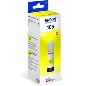 Original Epson 106 Yellow Ecotank Ink Bottle (C13T00R440)