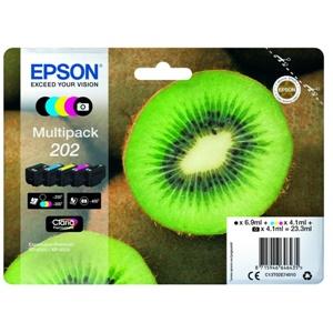 Original Epson 202 5 Colour Inkjet Cartridge Multipack (C13T02E74010)