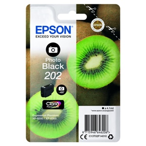 Original Epson 202 Photo Black Inkjet Cartridge (C13T02F14010)