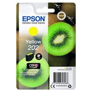 Original Epson 202 Yellow Inkjet Cartridge (C13T02F44010)