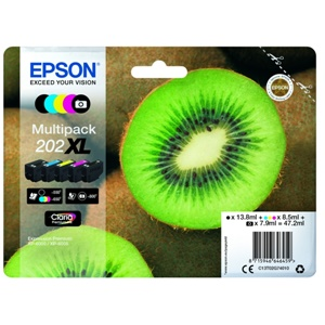 Original Epson 202XL 5 Colour High Capacity Inkjet Cartridge Multipack (C13T02G74010)
