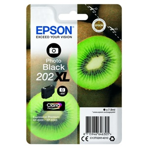 Original Epson 202XL Photo Black High Capacity Inkjet Cartridge (C13T02H14010)