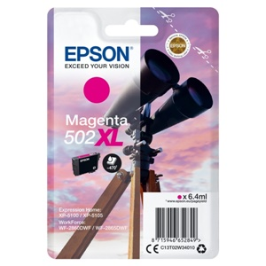 Original Epson 502XL Magenta High Capacity Inkjet Cartridge (C13T02W34010)