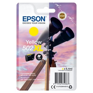 Original Epson 502XL Yellow High Capacity Inkjet Cartridge (C13T02W44010)
