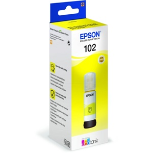 Original Epson 102 Yellow Ecotank Ink Bottle (C13T03R440)