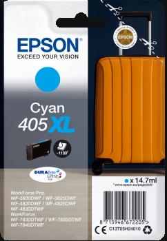 Epson Original 405XL Cyan High Capacity Ink Cartridge C13T05H24010