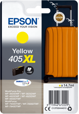 Epson Original 405XL Yellow High Capacity Ink Cartridge C13T05H44010