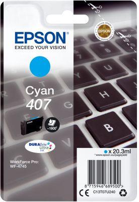 Epson Original 407 Cyan Ink Cartridge C13T07U240