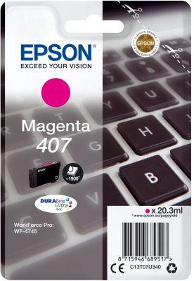 Epson Original 407 Magenta Ink Cartridge C13T07U340