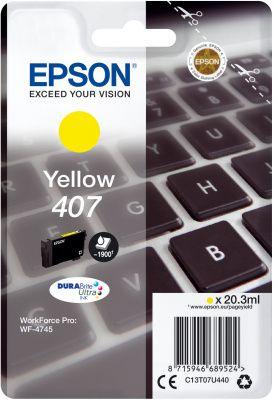 Epson Original 407 Yellow Ink Cartridge C13T07U440