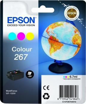 Epson Original 267 Tri Colour Ink Cartridge (C13T26704010)