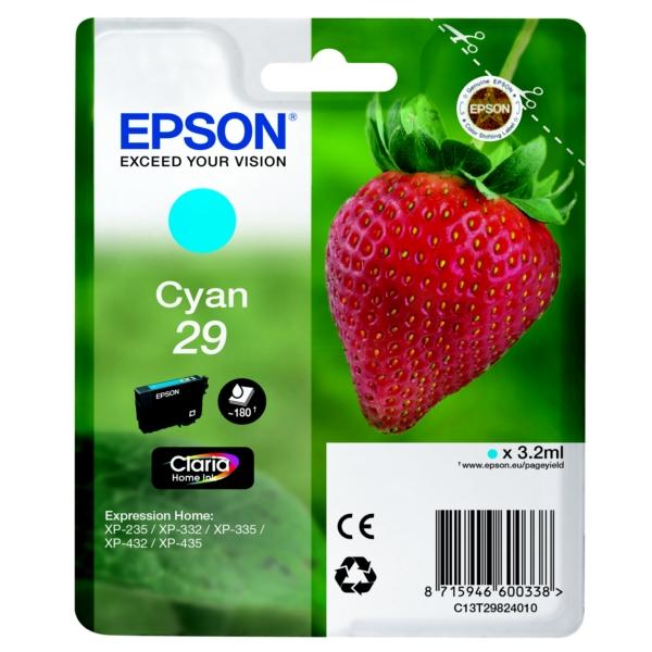 Epson Original 29 Cyan Ink Cartridge (T2982)