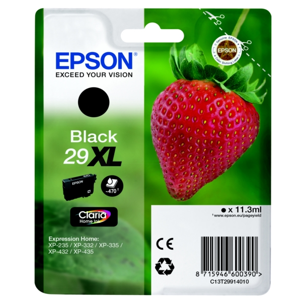 Epson Original 29XL Black High Capacity Ink Cartridge (T2991)