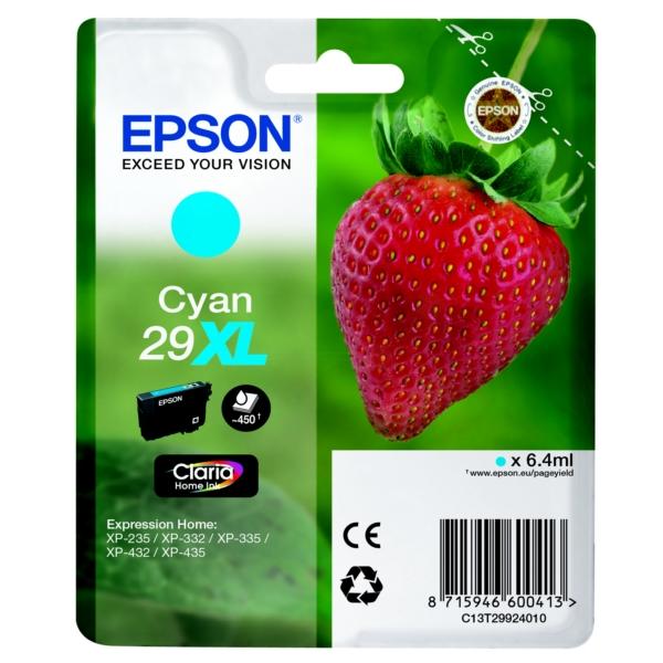 Epson Original 29XL Cyan High Capacity Ink Cartridge (T2992)