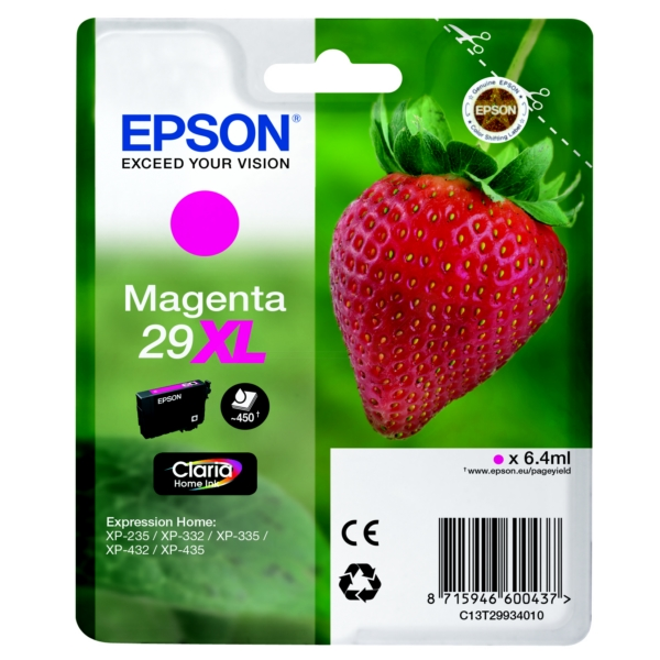 Epson Original 29XL Magenta High Capacity Ink Cartridge (T2993)