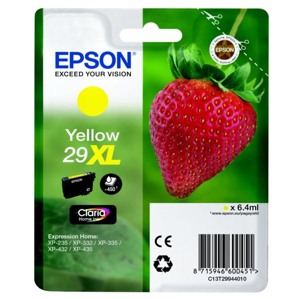 Epson Original 29XL Yellow High Capacity Ink Cartridge (T2994)
