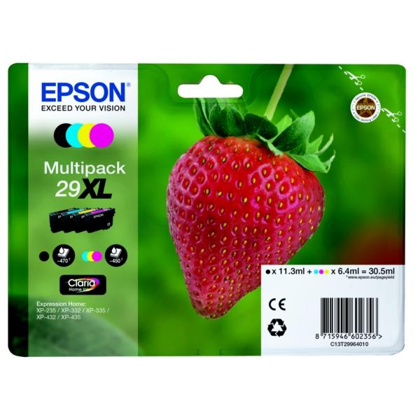 Epson Original 29XL High Capacity Ink Cartridge Multipack (Black/Cyan/Magenta/Yellow)