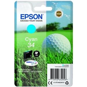 Original Epson 34 Cyan Inkjet Cartridge (C13T34624010)