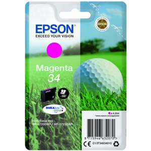 Original Epson 34 Magenta Inkjet Cartridge (C13T34634010)