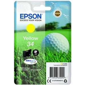Original Epson 34 Yellow Inkjet Cartridge (C13T34644010)