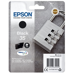 Original Epson 35 Black Inkjet Cartridge (C13T35814010)