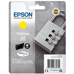 Original Epson 35 Yellow Inkjet Cartridge (C13T35844010)