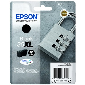 Original Epson 35XL Black High Capacity Inkjet Cartridge (C13T35914010)