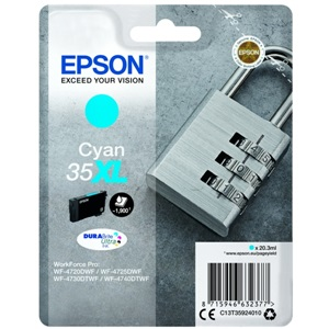 Original Epson 35XL Cyan High Capacity Inkjet Cartridge (C13T35924010)