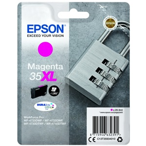 Original Epson 35XL Magenta High Capacity Inkjet Cartridge (C13T35934010)