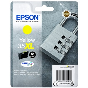 Original Epson 35XL Yellow High Capacity Inkjet Cartridge (C13T35944010)