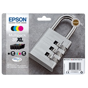 Original Epson 35XL High Capacity 4 Colour Inkjet Cartridge Multipack (C13T35964010)