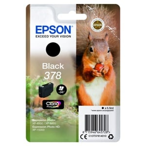 Original Epson 378 Black Inkjet Cartridge (C13T37814010)
