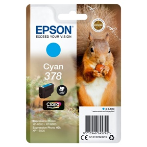 Original Epson 378 Cyan Inkjet Cartridge (C13T37824010)