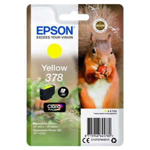 Original Epson 378 Yellow Inkjet Cartridge (C13T37844010)