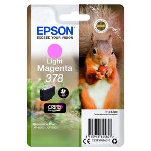 Original Epson 378 Light Magenta Inkjet Cartridge (C13T37864010)