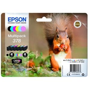Original Epson 378 6 Colour Inkjet Cartridge Multipack (C13T37884010)