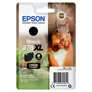 Original Epson 378XL Black High Capacity Inkjet Cartridge (C13T37914010)