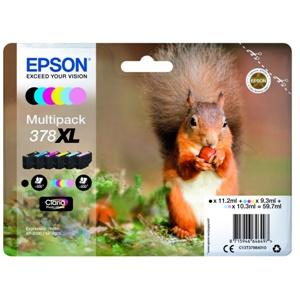 Original Epson 378XL 6 Colour High Capacity Inkjet Cartridge Multipack (C13T37984010)