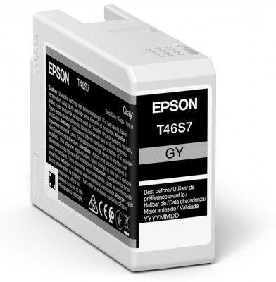 Original Epson T46S7 Grey Inkjet Cartridge C13T46S700